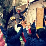 "Refugees camp, Lesbos - Photo credit: ""Teatr Na Walizkach"" – teatr i centrum kultury"